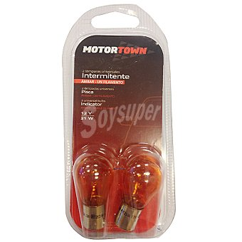 Motortown 12 v 21 W kit 2 lámparas universales para intermitentes color ambar y de un filamento 2 l