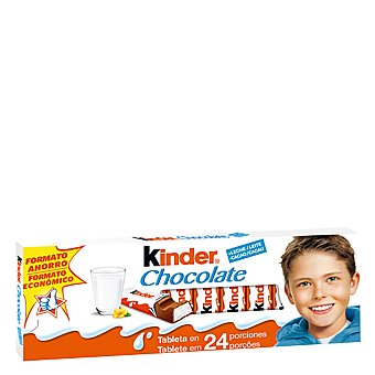 Kinder Chocolate con leche 14 porciones Tableta 300 g