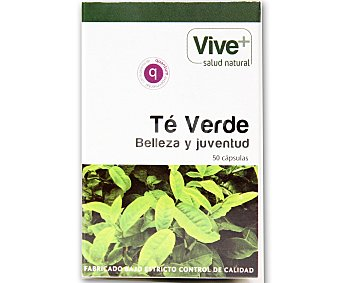Viveplus Te verde 50 cápsulas 25 gramos