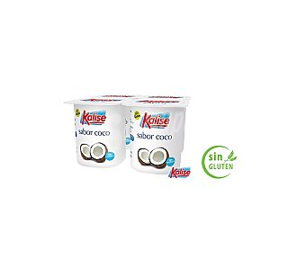 Kalise Yogur sabor coco Pack de 4x125 g