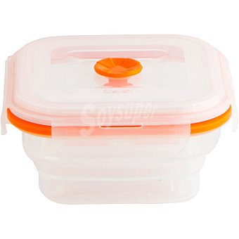 QUID In & Out Hermético Plegable en color blanco y filo naranja 0,5 l