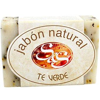S&S Pastilla de jabón natural de Té Verde Pastilla 100 g