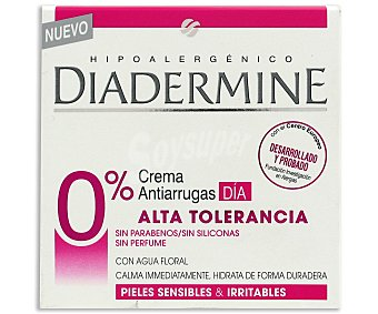 Diadermine Crema de dia antiarrugas alta tolerancia 0%  50 ml