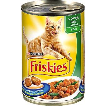Friskies Purina Albóndigas de pollo conejo y verduras para gato Lata 400 g