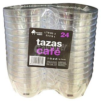 Bosque Verde Taza cafe desechable plastico transparente * navidad* 24 u