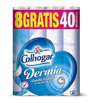 Colhogar Papel higiénico Dermia Paquete 40 rollos