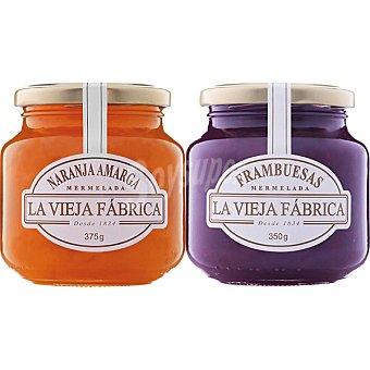 La Vieja Fábrica mermelada de frambuesa y naranja amarga pack 2 unidades 725 g