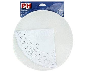 P & H Platos 27cm + Rodales 35cm 5+5 Unidades