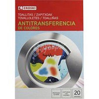 Eroski Toallitas antitransferente color Caja 20 unid