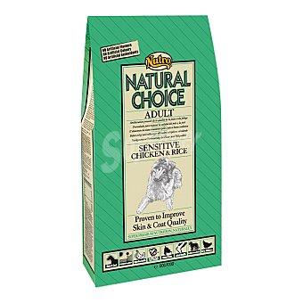 Nutro Natural choice sensitive adult pienso premium para perros adultos de todas las razas con pollo y arroz Bolsa 2 kg