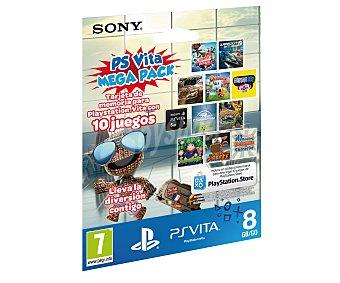 Sony Tarjeta de Memoria para Ps Vita de 8Gb con 10 Juegos Cargados en la misma 1 Unidad