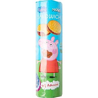 Peppa Pig Galletas sandwich rellenas de chocolate + 1 adhesivo Paquete 240 g