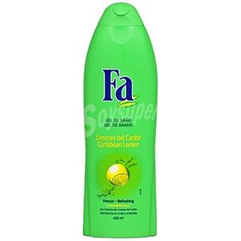 Fa gel de baño Limones del Caribe Frasco 600 ml