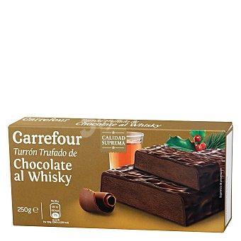 Carrefour Turrón trufado de chocolate al whisky 250 g