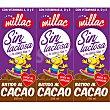 batido de cacao SIN LACTOSA pack 3 envases 200 ml Millac