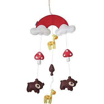 DOMBI Bosque decorativo de fieltro con nubes, setas y animalitos en alegres colores