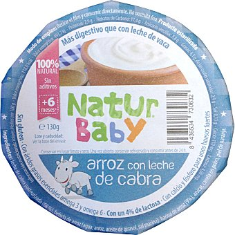 NATURBABY Arroz con leche de cabra 100% natural Envase 130 g