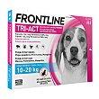 Solución contra garrapatas y pulgas para perros de 10 a 20 kg Caja 3 pipetas x 2 ml Frontline