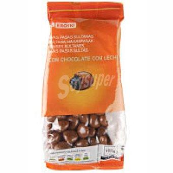 Eroski Pasas sultanas con chocolate con leche Bolsa 150 g