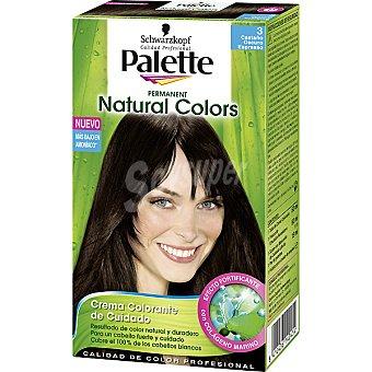 Schwarzkopf Palette Tinte Natural Colors nº 40 castaño oscuro espresso crema colorante permanente con aloe ver Caja 1 unidad