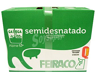 Feiraco Leche semidesnatada 6 x 1 l