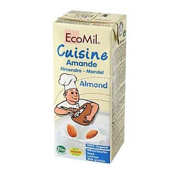 Ecomilk Nata para cocinar de almendras sin lactosa Cuisine 200 ml