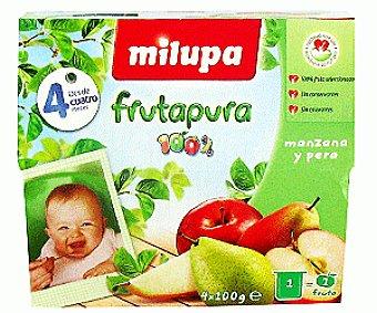Milupa Frutapura de manzana-pera Pack 4x100 g