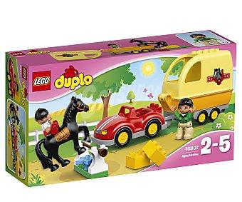 LEGO Juego de construcciones con 15 piezas Remolque ecuestre, ref. 10807, incluye 2 figuras y 1 caballo Duplo 1 unidad