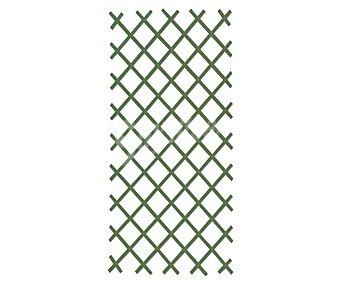 GARDELYS Celosia extensible de PVC verde, resistente a las inclemencias metereológicas y con tratamiento anti-uv. Incluye kit de fijación 1 unidad