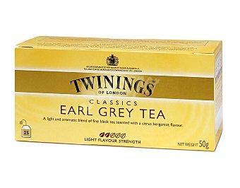 Twinings Té Earl Grey Caja 25 sobres (50 g)