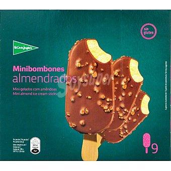 El Corte Inglés Minibombón helado sabor a vainilla almendrado sin gluten estuche 450 ml 9 unidades