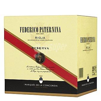 Marqués de la Concordia Vino tinto reserva Federico Paternina D.O. Ca. Rioja Pack de 12 botellas de 75 cl