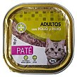 Comida gato adultos pate pollo pavo Tarrina 100 g Compy