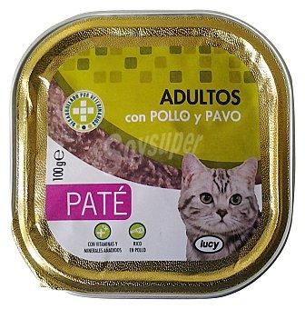 Compy Comida gato adultos pate pollo pavo Tarrina 100 g