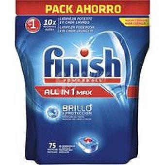 FINISH Todo en 1 Lavavajillas máquina Bolsa 75 dosis