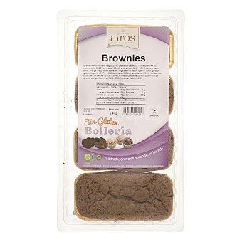 Airos Brownie de chocolate sin gluten Paquete 240 g
