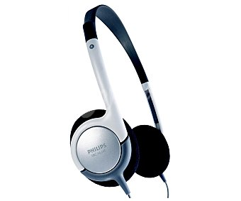 Philips Auriculares tipo diadema SBCHL145 con cable, gris y negro con cable, gris y negro