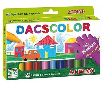 Alpino Caja de 12 ceras blandas para colorear, ideales para uso escolar ya que no manchan 12 unidades