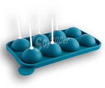 Quid Molde para 8 Cakepops fabricado en silicona antiadherente 1 Unidad