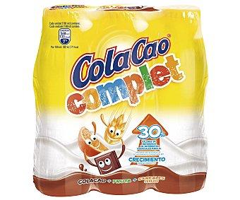 COLA CAO Complet batido de cacao pack 3 botellas 188 ml