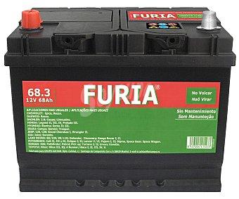 FURIA Batería de automóvil de 12v y 68Ah, con potencia de arranque de 550 Amperios.