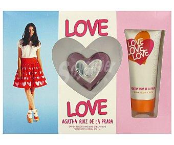 AGATHA LOVE LOVE Estuche Mujer Colonia 50ml+Body 100ml love love de agatha ruiz DE LA prada 1 Unidad (12,43€/UN ) 1u