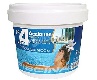 Pqs Tratamiento 4 funciones (desinfectante, algicída, floculante y antical) en tabletas de 200 gramos 5 Kilogramos