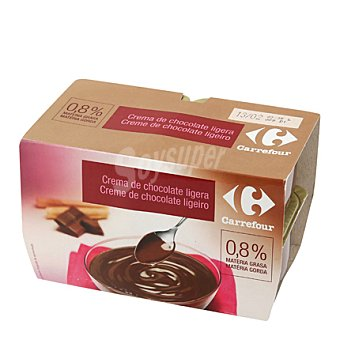 Carrefour Crema Chocolate Ligera Pack 4x125 g