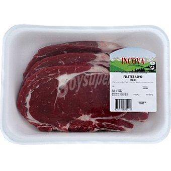INCOVA Añojo lomo en filetes peso aproximado bandeja 600 g 2-3 unidades