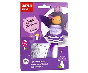 APLI Kit para construir una muñeca con forma de hada color lila apli