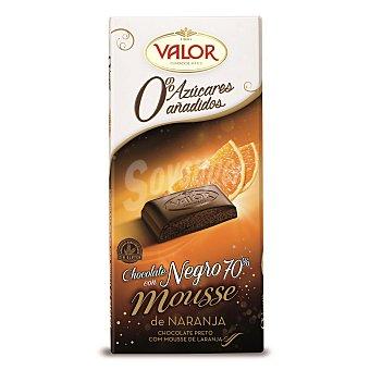 Valor Chocolate negro 70% relleno de mousse sabor naranja sin azúcares añadidos Tableta 150 g