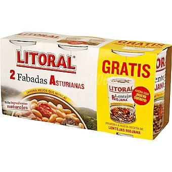Litoral Fabada Asturiana pack 2 lata 435 g con regalo de lentejas riojana de 430 g Pack 2 lata 435 g