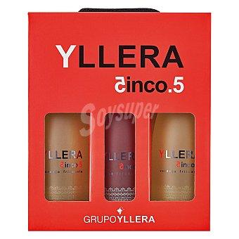 YLLERA 5.5 Estuche de 2 vinos blancos verdejo Frizzante + 1 vino rosado Frizzante Pack 3x75 cl