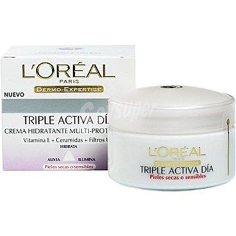 Dermo Expertise L'Oréal Paris Cuidado hidratante multiprotector de día para piel seca Tarro 50 ml